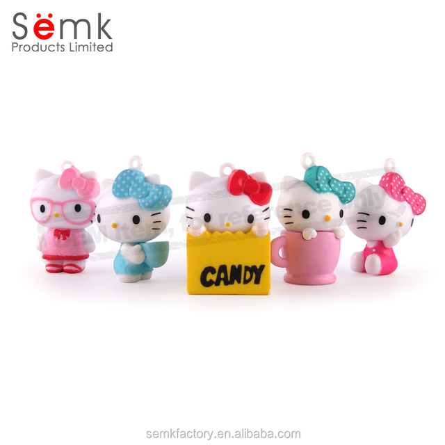 PVC material figurine small funny resin animation hellokitty figure