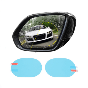 Discount! 2 PCS Car Anti Water Mist Film Anti Fog Coating Rainproof Rearview Mirror Film