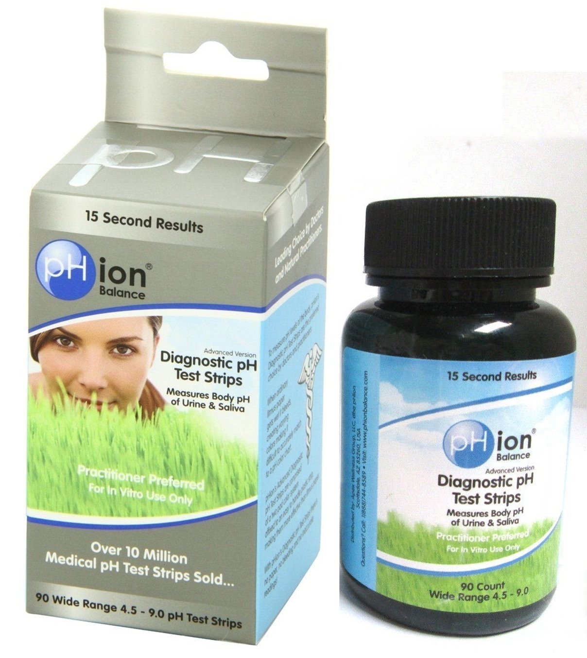 90-Count Glittering Modern pH Balance Test Strips Diagnostic Kit Urine and Saliva Sensitive Check 4.5-9.0 Wide Range