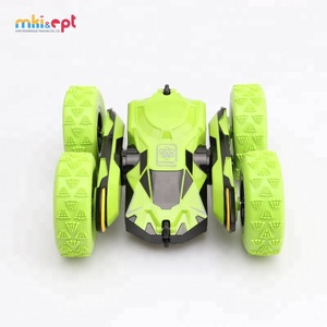 1:28 Fancy Green Special Design RC Remote Control Stunt Rolling Climbing 360 Racing Toy Car For Competition
