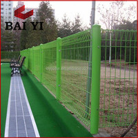Vinyl Coated Quick And Easy To Install Decorative Edge Protective Roll Top Fencing For Sale