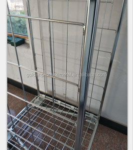 Foldable Storage Wire Containers Platform Container Roll Cage