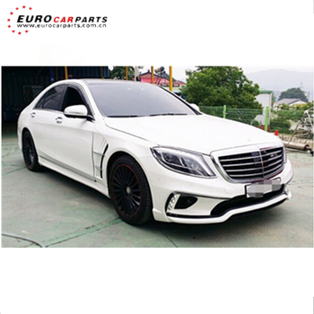 High Quality W222 W Style Body Kit For S Class 2015 2018 Year Front