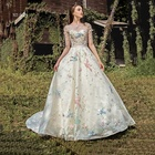 Customized new design white dresses short sleeve colorful beaded luxury wedding dress bridal gowns