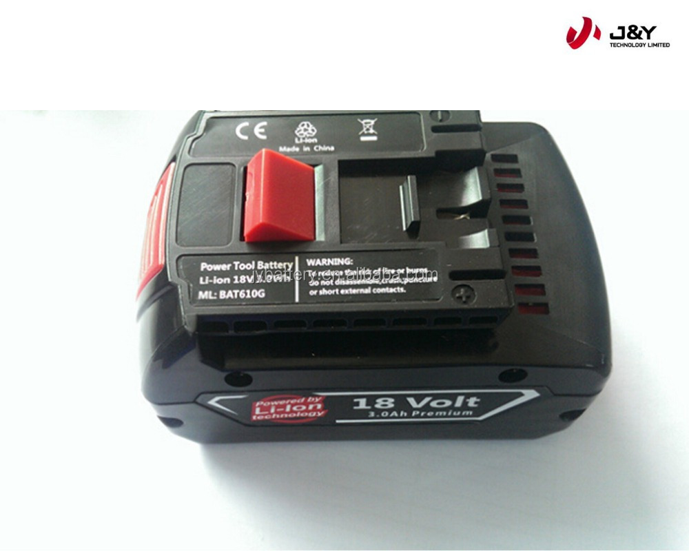 Li-ion replacement battery pack 18V 2.6AH, 3.0Ah, 4.0Ah power tool rechargeable battery
