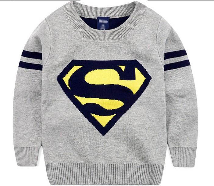 Venta caliente niños algodón Superman niños suéter patrones que ...