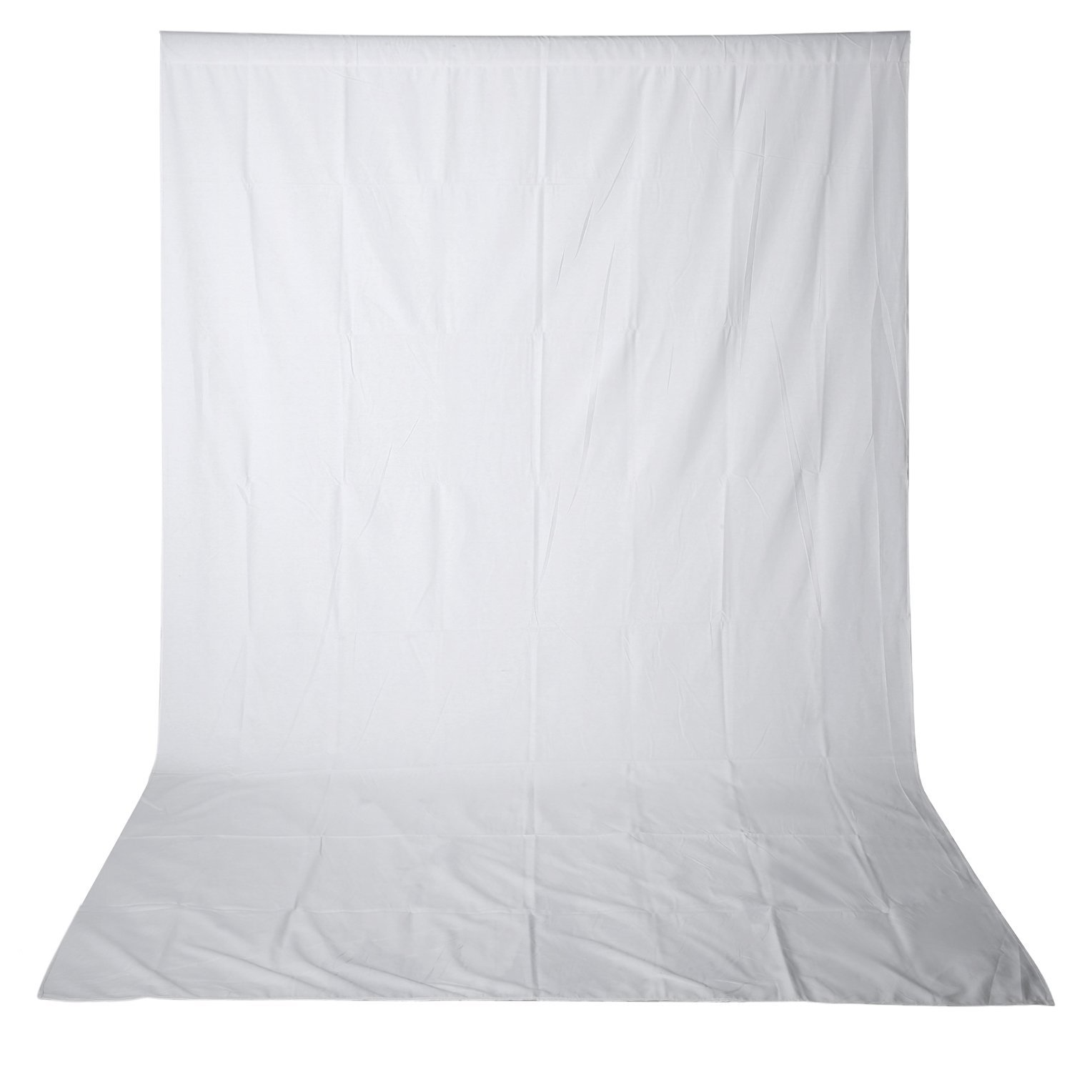 Neewer 10 x 12FT / 3 x 3.6M PRO Photo Studio 100% Pure Muslin Collapsible Backdrop Background for Photography,Video and Television (Background ONLY) - WHITE