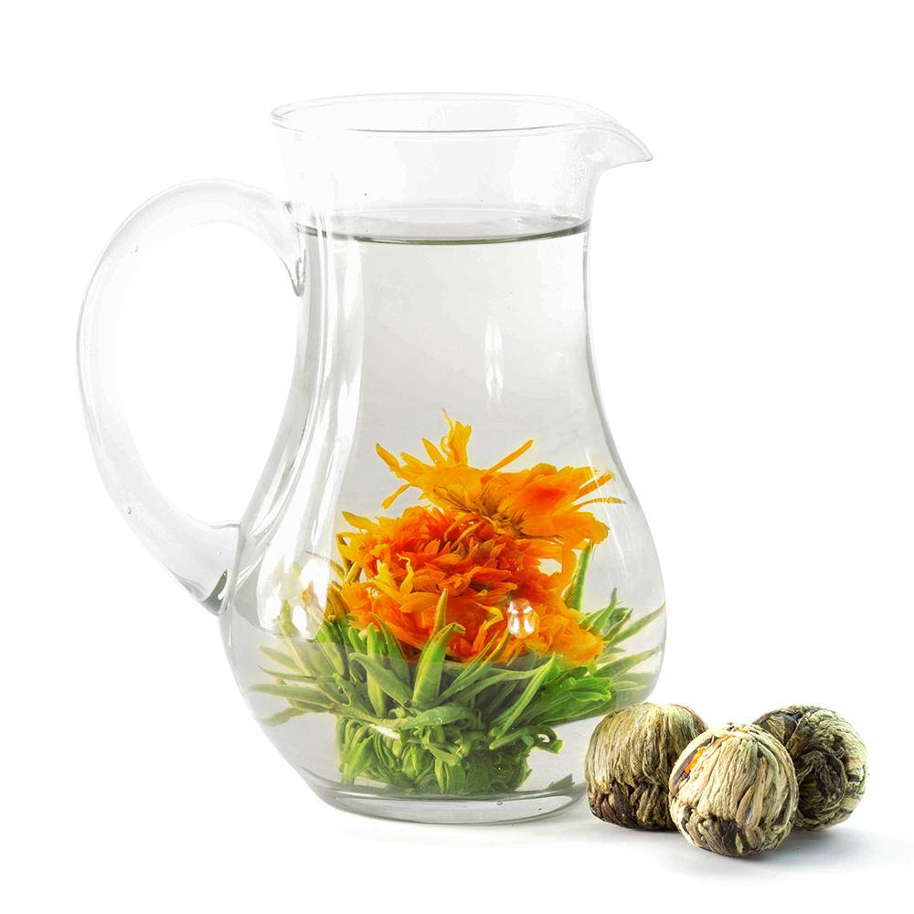 China Guangzhou Runming Tea Co ,Ltd Blooming Manufacture Art Gift Organic  Healthy Jasmine Flowering Tea Ball Packaging Flower - Buy Handmade  Flowering