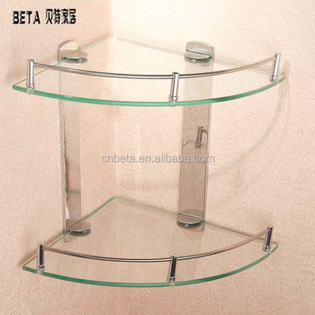 Stainless Steel Glass Bathroom Corner Towel Shelf In Different Types ...