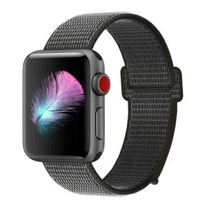 For Apple Watch Band 38mm 42mm 40mm 44mm Soft Breathable  Nylon Fabric Sport Loop Band Adjustable Wrist Strap Replacement Band