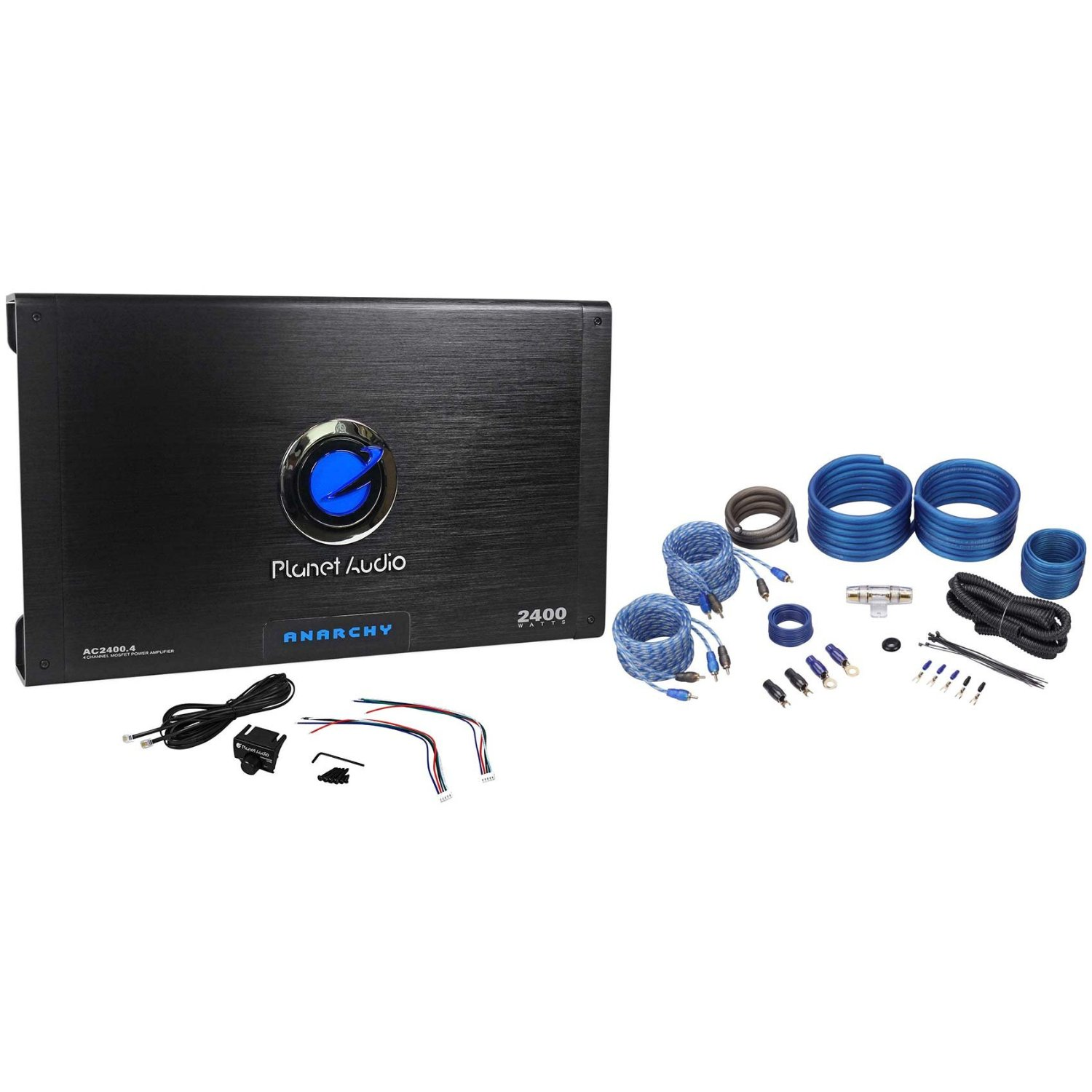 Get Quotations · Package: Planet Audio Anarchy AC2400. 2400 Watt 4 Channel  Car Amplifier With Remote +