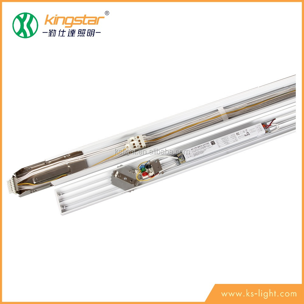 kingstar 4ft 1200mm 40w 5ft 1500mm 50w no flicker led emergency 0-10v dimmable linear light trunking system 125lm/w cheap