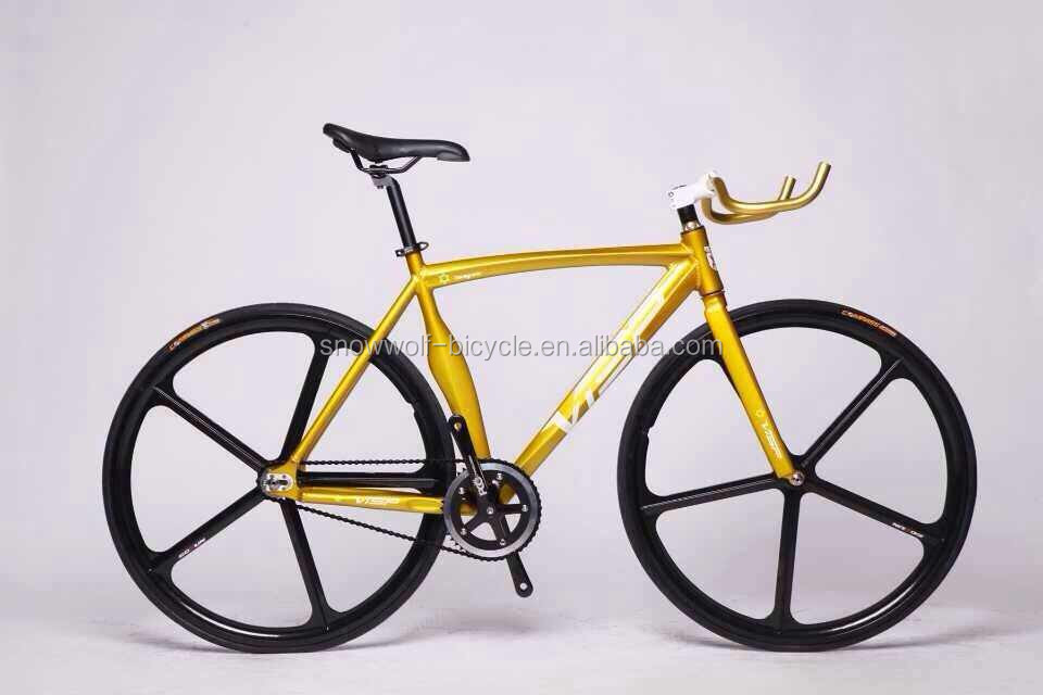 700c Magnesium Alloy Five Spoke Fixed Gear Bike Aero