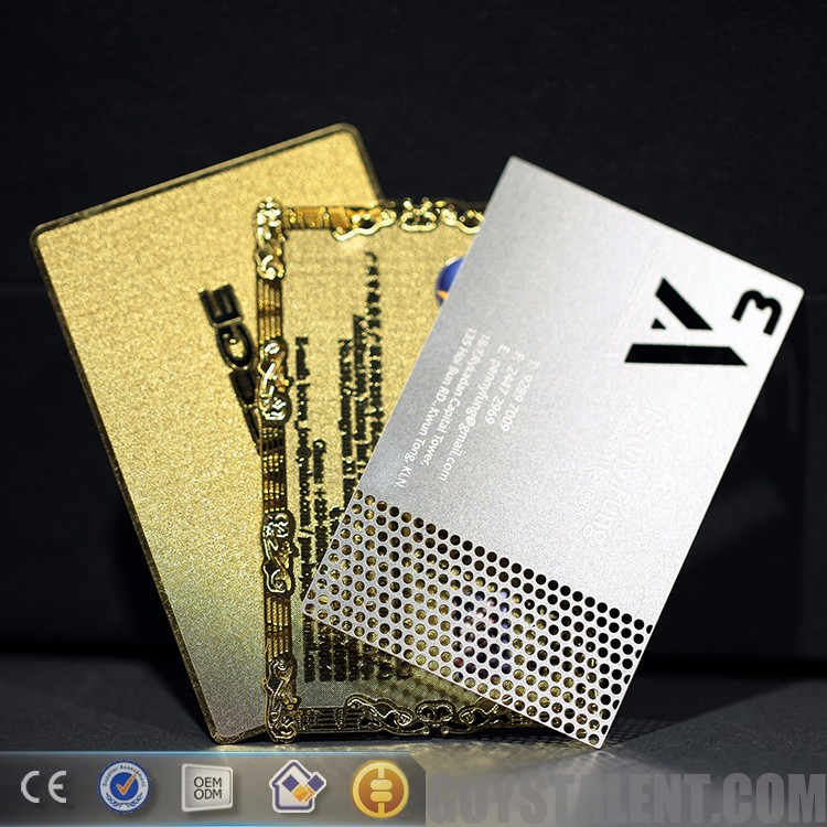 Custom printed metal magnetic stripe card With Factory Wholesale Price