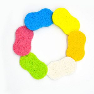 Environmental 100% natural bath and face cleansing pop-up cellulose sponges