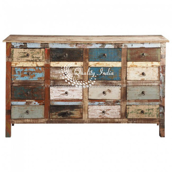 Genial Wooden Multi Drawers Classical Storage Tall Cabinet