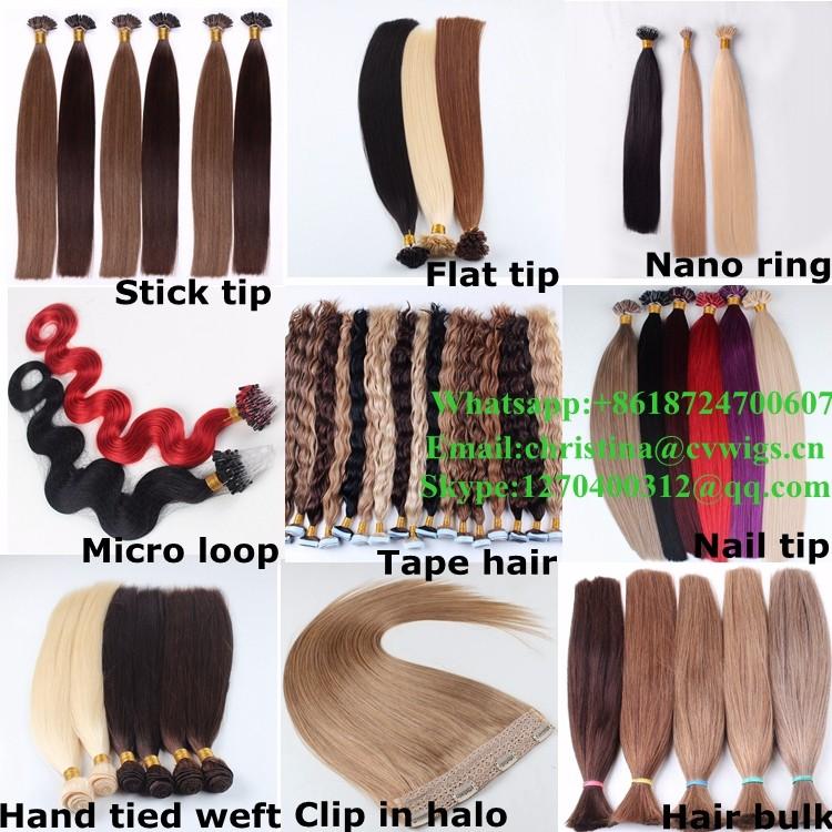 Qingdao Hair Factory Iuflat Tip Hair Extensions Grade 9a Virgin