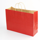 Custom Clothing Store Shopping Fashion Eco-friendly Gift Red Paper Bag Wholesale With Logo Print