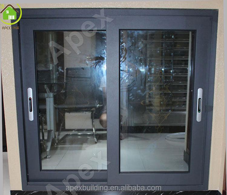 80 series de color gris aluminio ventana corredera for Ventanas aluminio gris antracita