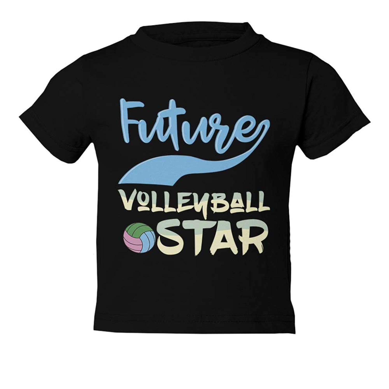 5a256828e Get Quotations · Volleyball Little Star Future Volleyball Star Youth &  Toddler Tee Shirt