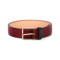 Delicate customized belt leather women's, genuine leather exterior PU interior belts for women Guangzhou manufacturer producing