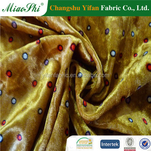 new style korea velvet fabric for cloth,printing,burnout fabric
