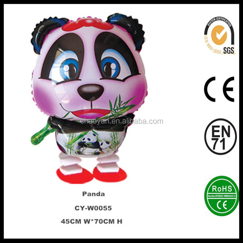 Commercio all'ingrosso walking foil balloon, piccolo panda palloncino, elio palloncino gonfiabile