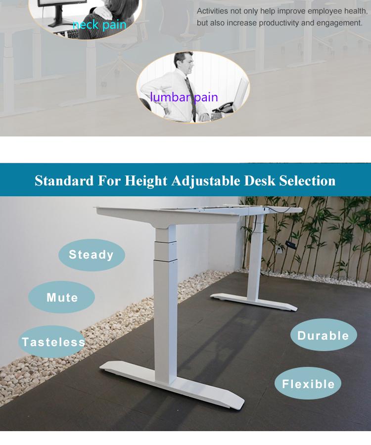 Moderne sit stand bureau telescopische ontwerp lift tafel bedrijf verstelbare bureau