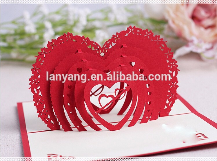 3d Pop Up Carte De Voeux Coeurs D Amour Joyeux Anniversaire Saint Valentin Anniversaire Buy Pop Up Carte De Voeux Coeurs D Amour Carte De La