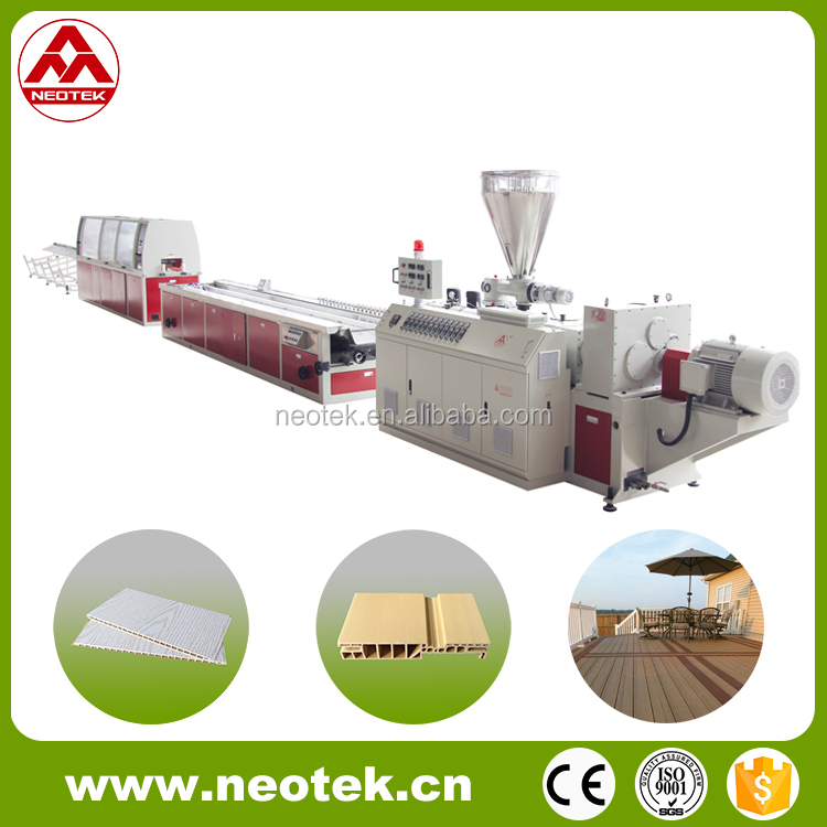 The Most Professional Manufacturer WPC PVC Decking Board Extruder Line