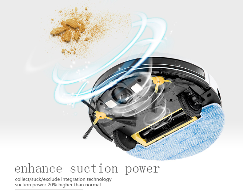 cordless camera robot vacuum cleaner, suck and sweep two in one, HEPA filter china cleaning machine 1692
