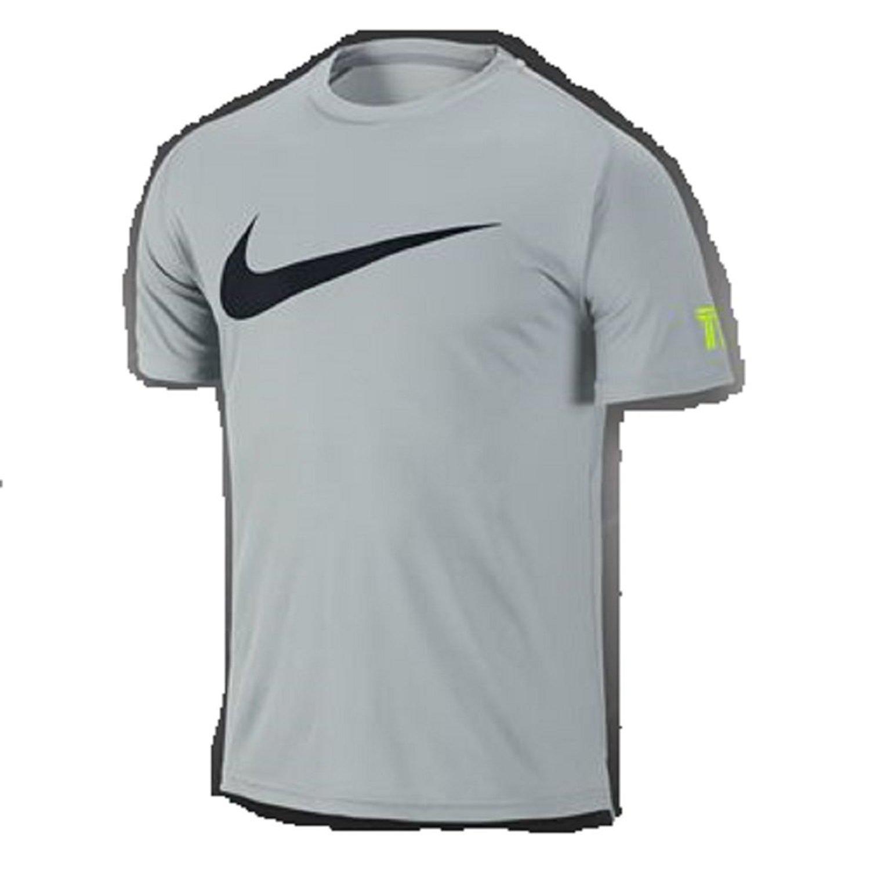 d1c51954a9c9 Get Quotations · Nike Mens Dri-Fit Tennis Practice Crew T-Shirt Grey Mist  619811-076