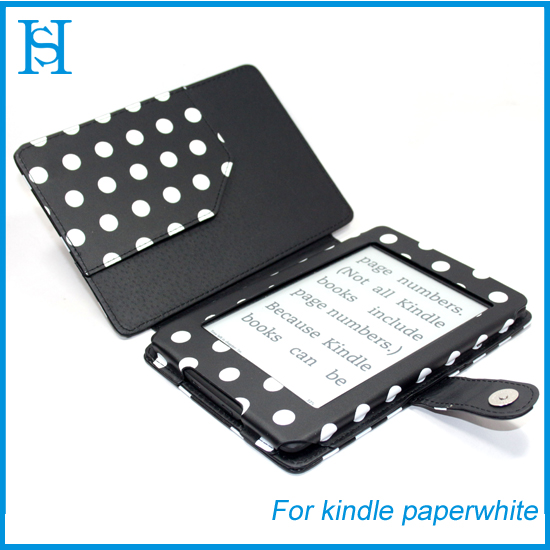 Kindle Paperwhite PU Leather Case Stand Cover Stylus Wake Sleep