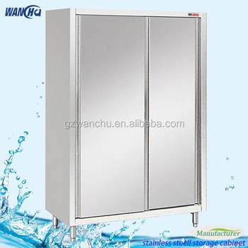 Commercial used kitchen tall cabinet freestanding stainless steel storage cabinet buy malaysia for Tall stainless steel bathroom cabinet