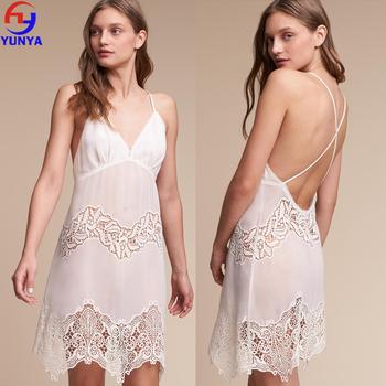 4898c371ba4 Lady sleepwear sexy transparent cross straps mini women night dress nighty  for honeymoon