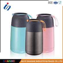 Reusable 450ml silicon handle metal double walled food warmer container