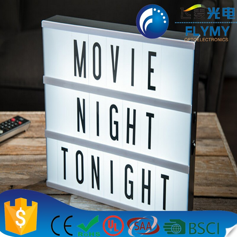 Trade Assurance A4 Size Cinematic Lightbox Battery Powered Cinema Light Box Customisable Light Box