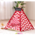 GMT06-0941 Multi-color Pet Show Tent Portable Outdoor Play Cotton Canvas Teepee Dog Bed Tent
