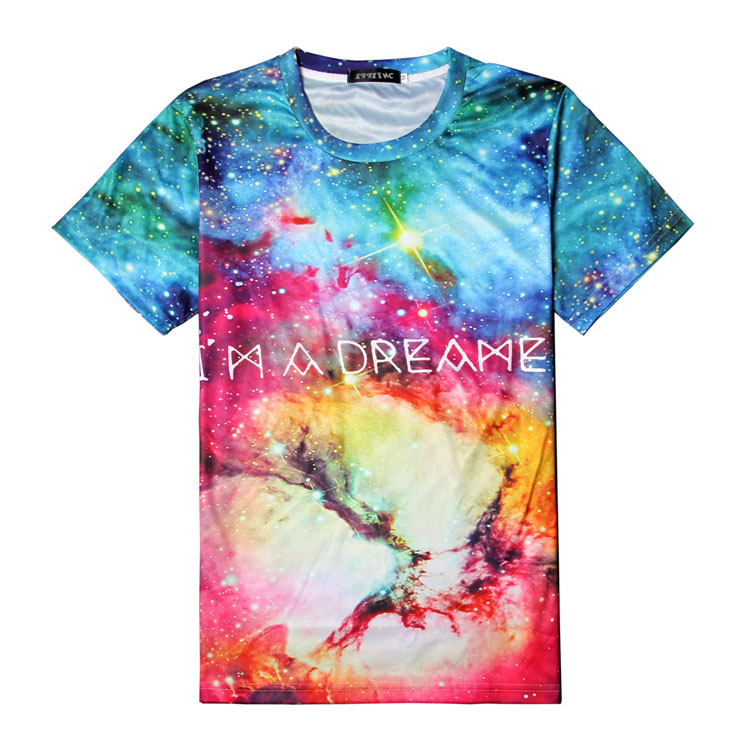 New style custom dye sublimation 3d printing t shirts