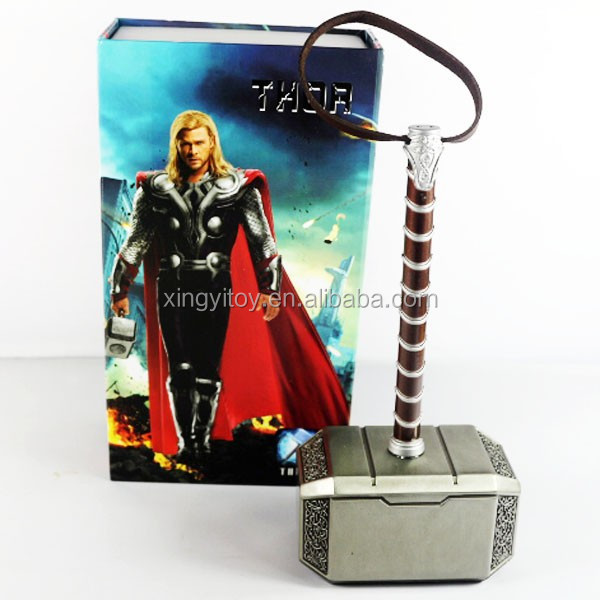 New in box Movie Marvel The Aveng Thor Alloy Cosplay Figure Thor Hammer
