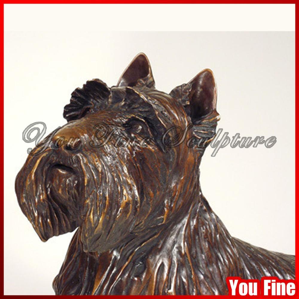Decorativo jard n de tama o natural bronce estatua perro for Ahuyentar perros del jardin