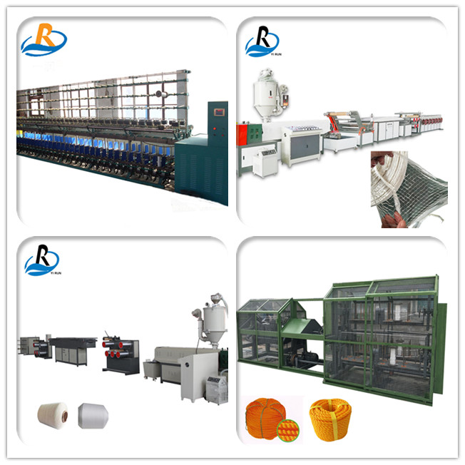 Fully automatic 4 strands high efficiency pp rope twisting plastic rope making machine