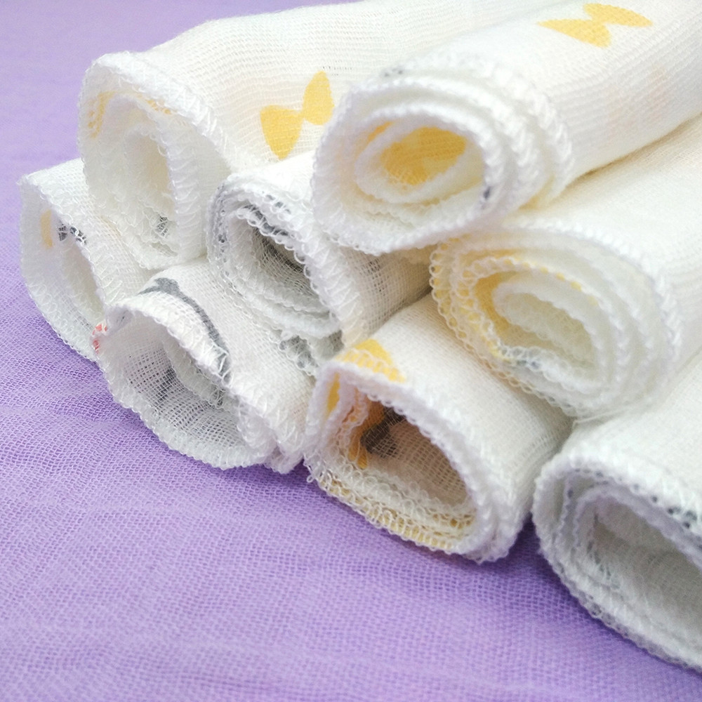 Colorful organic muslin face cloth organic cotton muslin face cloth reusable face cleansing cloth