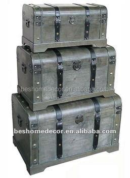 Wholesale Home Decoration Vintage Storage Boxes,wooden Trunk,wooden Box