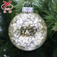 Glittering christmas tree ornaments glass ball decorations