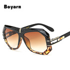 10 Colors Spring Summer Styles Women Square Sunglasses Fashion Men Gradient/Clear Lens Glasses UV400