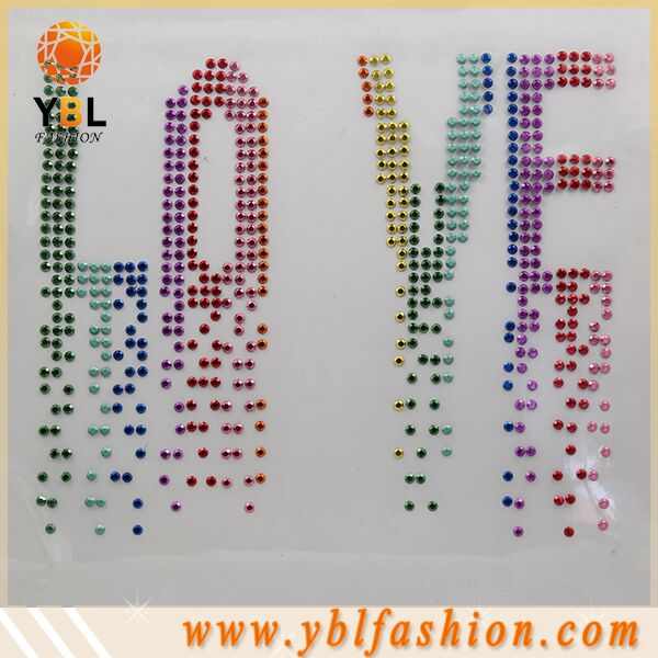 adhesive korean high quality studs letters design,heat press transfer