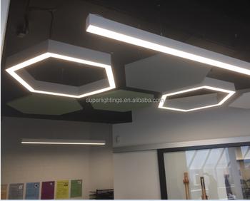 SL-L15B office aluminum fluorescent light fixture t5 fluorescent ...