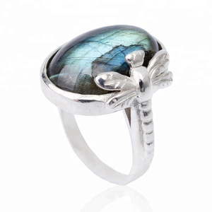 Lotus Fun Custom design Vintage 925 Sterling silver opal ring for woman Jewelry