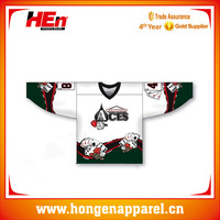 Hongen apparel individuation chess and cards decorate sublimation ice hockey jersey